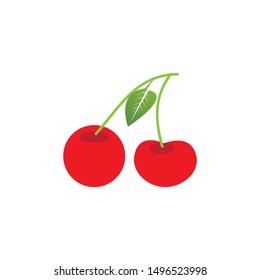 Cherry logo vector template design