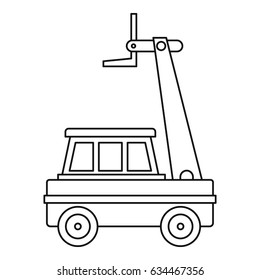 Cherry picker icon in outline style isolated vector illustration