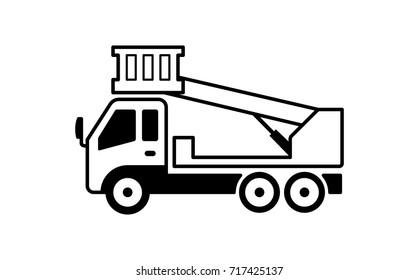 cherry picker truck illustration