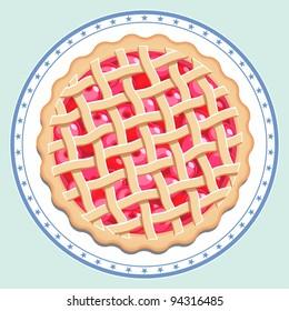 Cherry Pie on a Plate