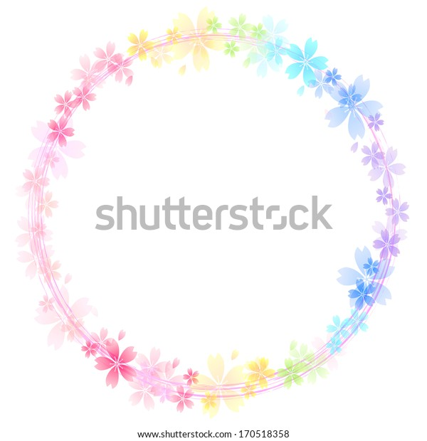 Cherry rainbow background