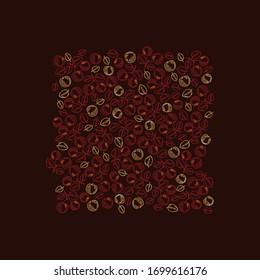 Kirschfeder-Muster in Vektorillustration