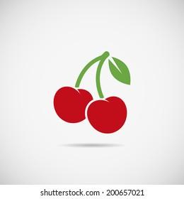 Cherry, vector.