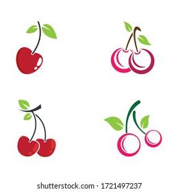 Cherry vector icon illustration design