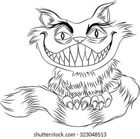 Cheshire Cat - Vector - Illustration