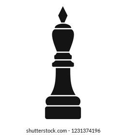 Chess bishop icon. Simple illustration of chess bishop vector icon for web design isolated on white background