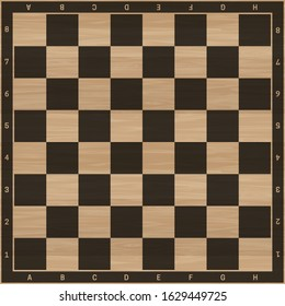 Chess board. Background for chess game with wooden texture.