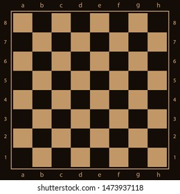 The chess Board is brown. Simple vector illustration.