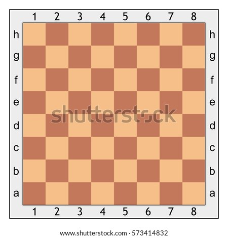 chess board chess games vector template stock vector royalty free