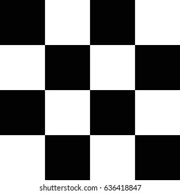 Chess board seamless pattern. Black and white squares. Checkered background. Vector illustration.