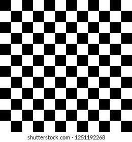 Chess board, seamless pattern. Vector illustration. black white