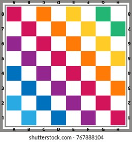 Chess board vector. Knitted chess board. Chess background. Chessboard illustration.