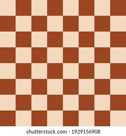 Chess Brown Board. Vector Chessboard. Brown Color Pattern. Vector Brown Chess Pattern.