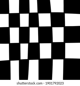 Chess Cells Vector. Black and white squares.