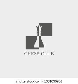 Chess club logo. Vector illustration.