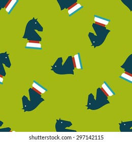 chess flat icon,eps10 seamless pattern background