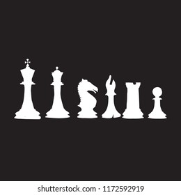 chess game in black background