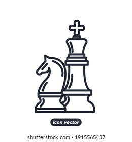 Chess icon. Chess Strategy symbol template for graphic and web design collection logo vector illustration