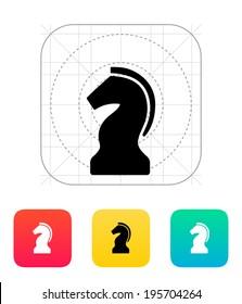 Chess Knight icon. Vector illustration.