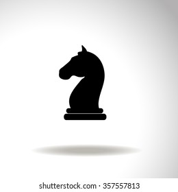 Chess knight vector icon.