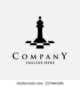 Chess Logo Design Vector Template