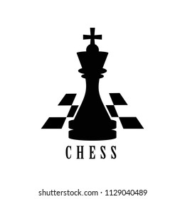 Chess logo isolated on white background. Chess logo for web site, app and print presentation. Creative art concept, vector illustration, eps 10