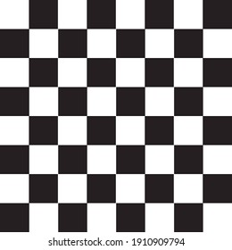 Chess Pattern in Black and white concept vector