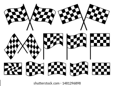 Chess pattern | Racing Flag Vector Illustration Silhouette