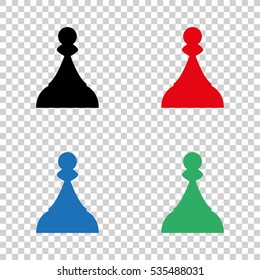 Chess Pawn  - vector icon