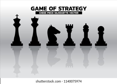 chess piece silhouette vector. icon for planning and strategy thinking