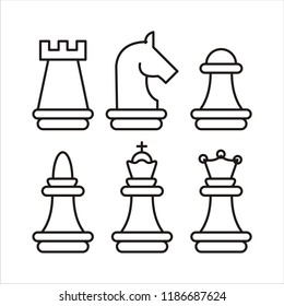 chess piece vector icons
