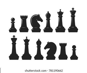 Chess pieces. Game concept. Vector illustration