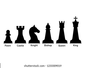 Chess pieces icon. Vector illustration, flat design.