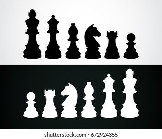 chess pieces vector icon