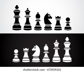 chess pieces vector icons