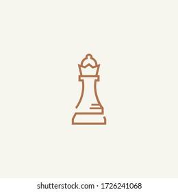Chess Queen Line Art Design