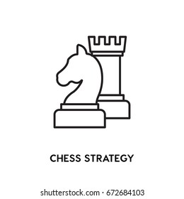 Chess Strategy vector icon, gross master symbol. Modern, simple flat vector illustration for web site or mobile app