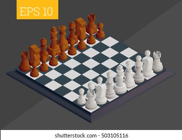 chessboard eps10 vector illustration. chess game board