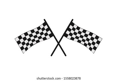 chessboard icon for the finish symbol in a race or car or motorcycle racing championship