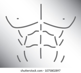 Chest Abs Outline