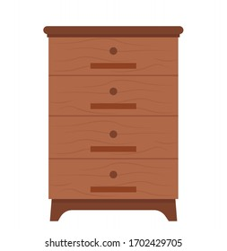 Chest of drawers vector, isolated container with shelves to put things, organization of home, furniture made of wood, cabinet commode for house decor. Tools for apiary