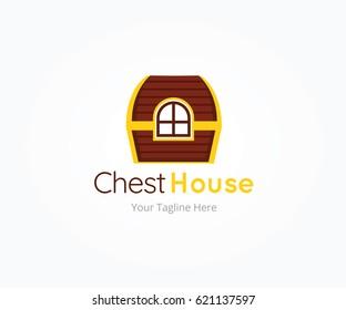 Chest House Logo Templates