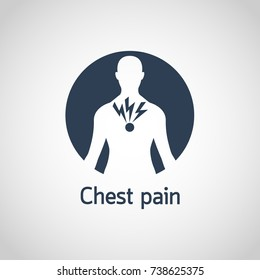 Chest Pain vector logo icon illustration