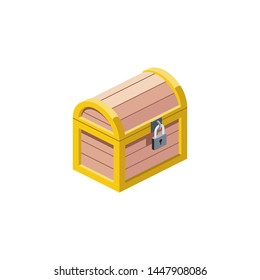 Chest vector 3d isometric, color web icons, new flat style. Creative illustration, idea for infographics.
