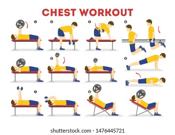 Chest Exercises Illustrations Images Stock Photos Vectors Shutterstock
