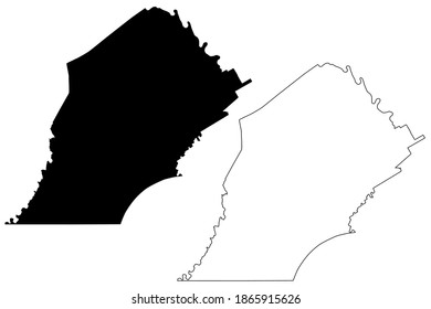 Chester County, Commonwealth of Pennsylvania (U.S. county, United States of America, USA, U.S., US) map vector illustration, scribble sketch Chesco map