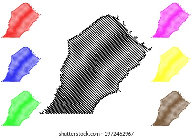 Chester County, Commonwealth of Pennsylvania (U.S. county, United States of America) map vector illustration, scribble sketch Chesco map