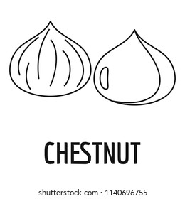 Chestnut icon. Outline illustration of chestnut vector icon for web design isolated on white background