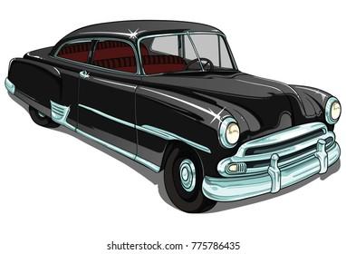 chevrolet retro vintage vector car
