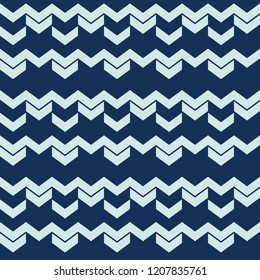 Chevron Arrow Pattern Seamless Vector Pattern. Masculine Wavy Stripes Texture Illustration for Trendy Home Decor, Winter Fashion Prints, Wallpaper, Patterned Textiles. Seasonal Gift Wrap Background.